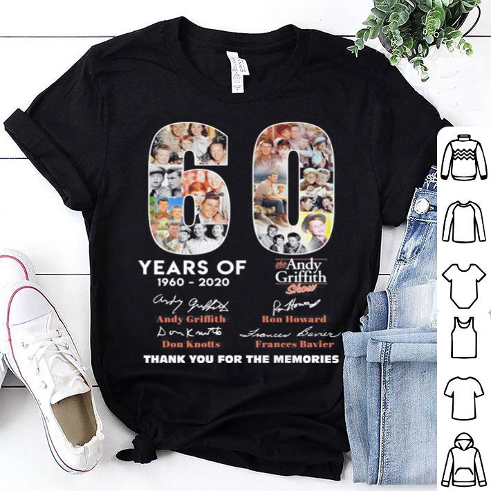 60 years of The Andy Griffith Show thank you for the memories shirt