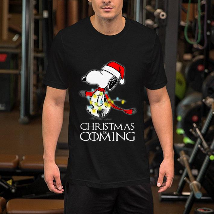 Game Of Thrones Christmas Is Coming Snoopy shirt