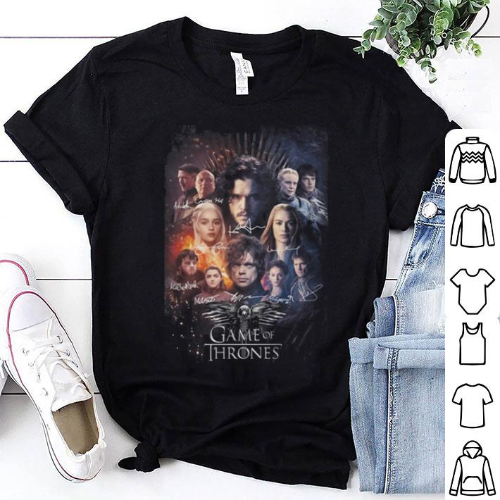 Game Of Thrones signatures poster shirt