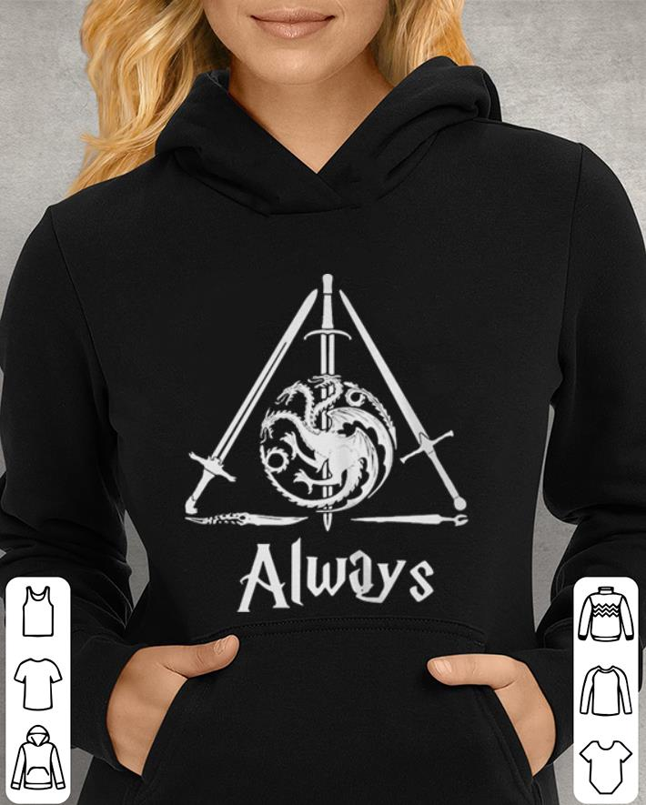 House Targaryen always deathly hallows Game Of Thrones Harry Potter shirt