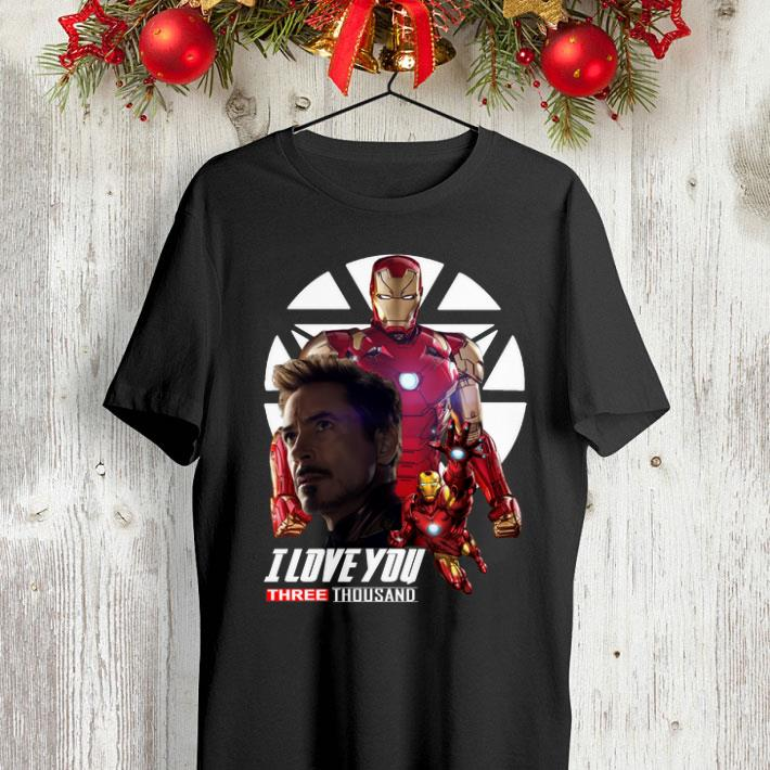 Iron Man I love you three thousand Endgame shirt
