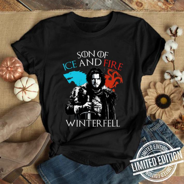 Jon Snow Son of ice and fire Winterfell shirt