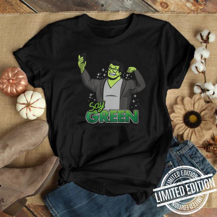Professor Hulk Avengers Endgame say green shirt