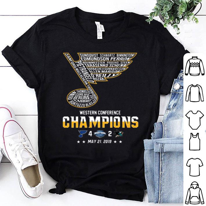 St. Louis Blues Western Conference Champions 2019 Hockey shirt