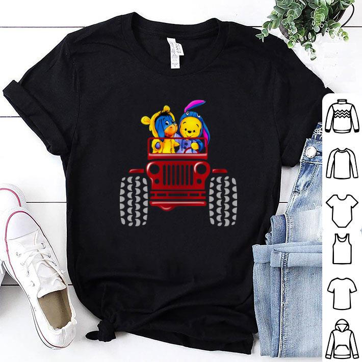 Winnie the Pooh Tigger and Eeyore Jeep shirt
