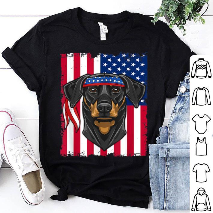 4th of July USA Flag Doberman Pinscher Dog shirt