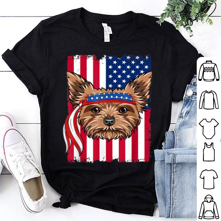 4th of July merica patriotic Flag USA Yorkshire terrier shirt