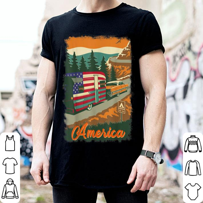 4th of july camping lovers for camper shirt