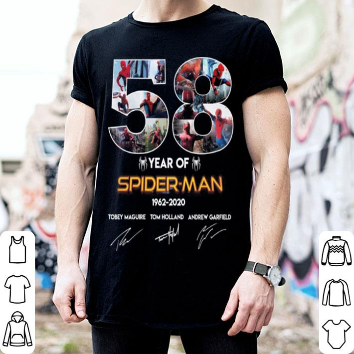 50 year of Spider-man 1962-2020 signatures shirt