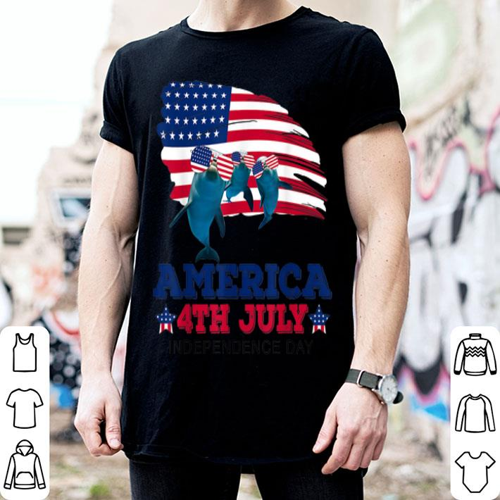 American 4th Of July Independence Day Dolphin shirt