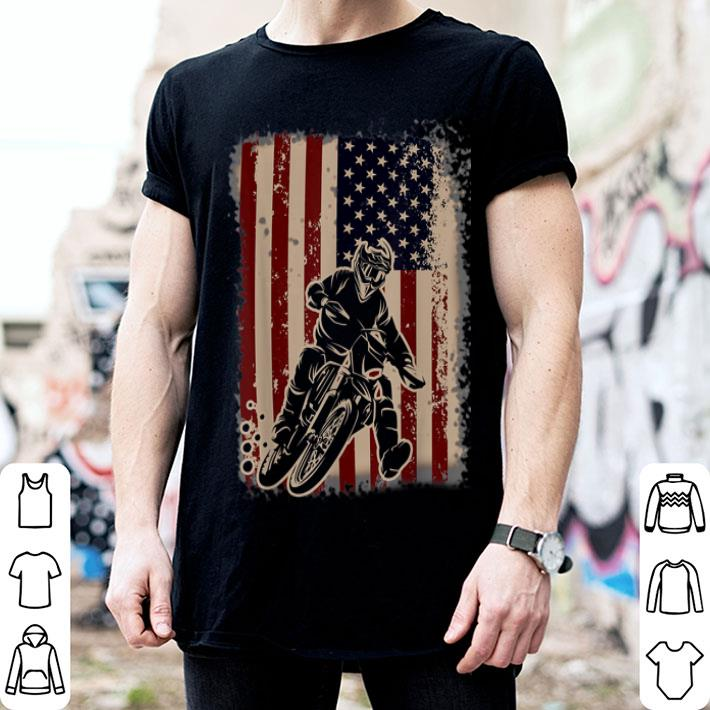 American Flag 4th of july Dirt Bike shirt