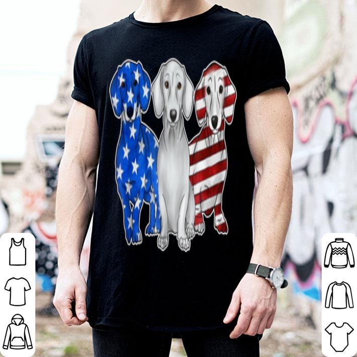 American Flag Dachshund Dog Lover 4th of July shirt