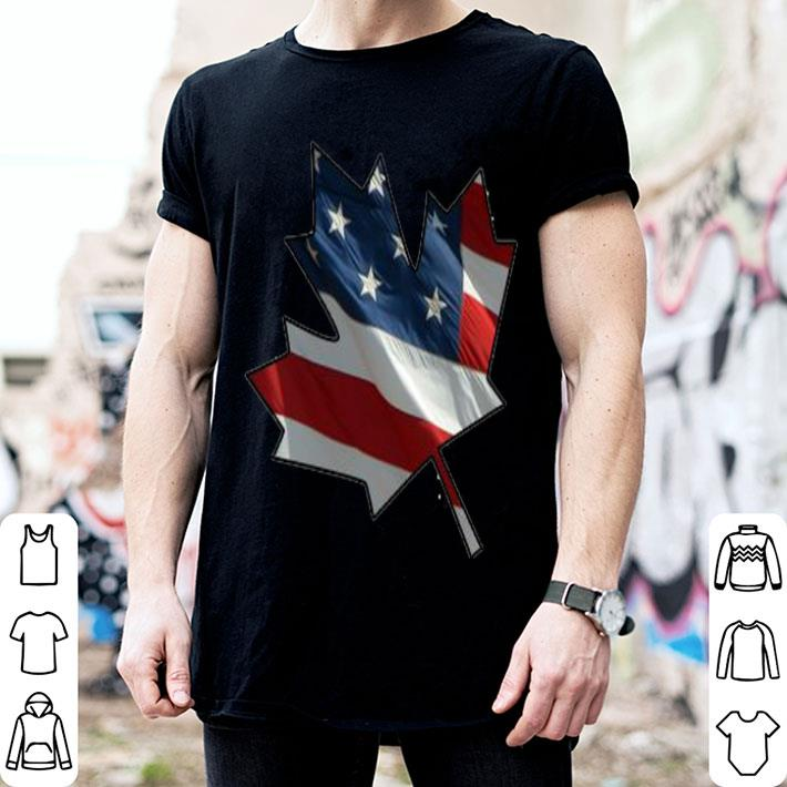 American flag and Canadian Flag shirt