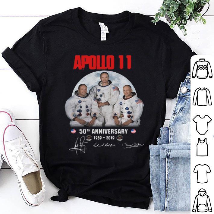 Apollo 11 50th anniversary 1969-2019 signatures shirt