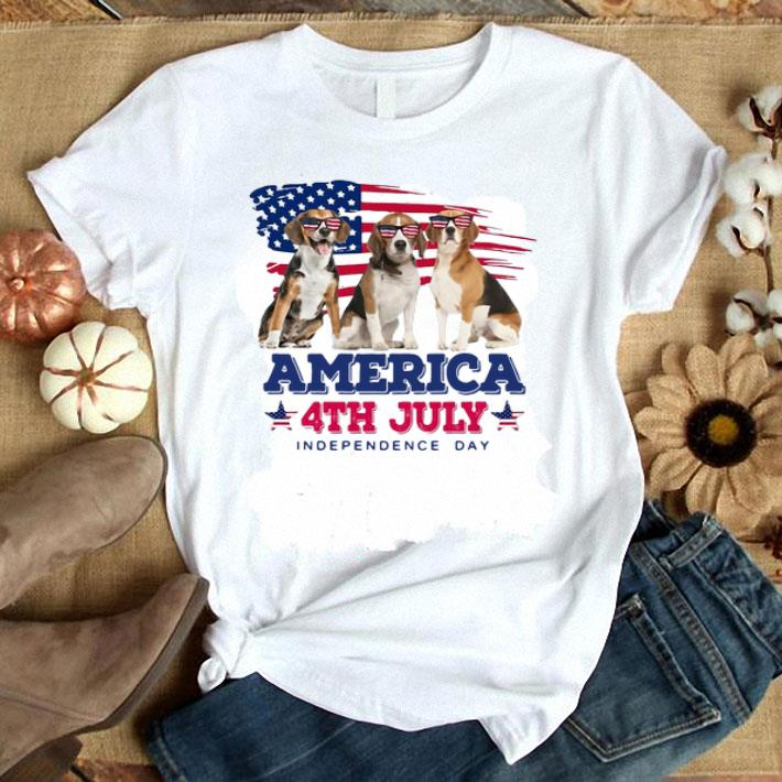 Beagles American flag 4th July independence day shirt