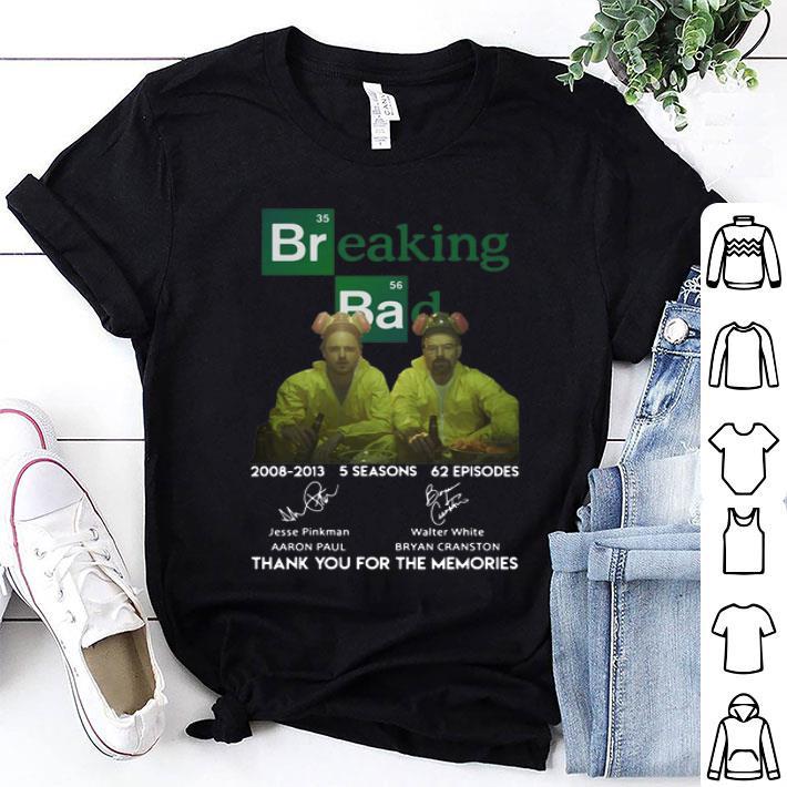 Breaking Bad 2008-2013 5 seasons 62 episodes signatures shirt