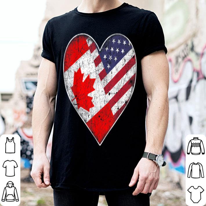 Canadian American Flag Vintage Canada shirt