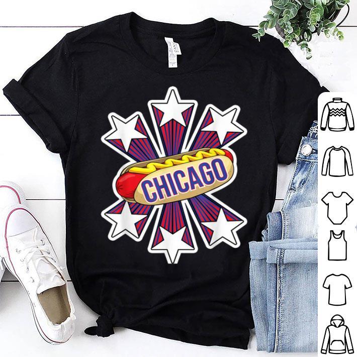 Chicago Hot Dog 4th of July USA Patriotic Pride shirt