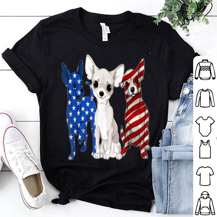 Chihuahua American Flag Independence Day shirt