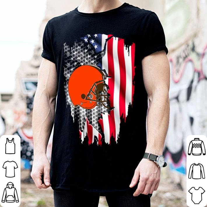 Cleveland Browns American flag shirt