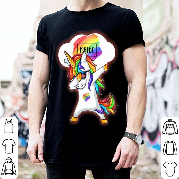 Dabbing Unicorn pride LGBT shirt