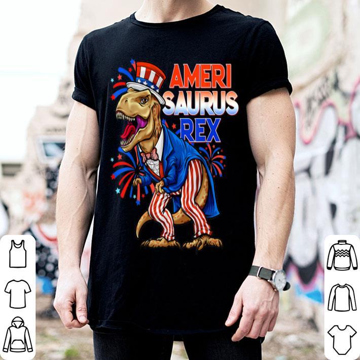 Dinosaur Amerisaurus Rex 4th Of July USA Flag shirt