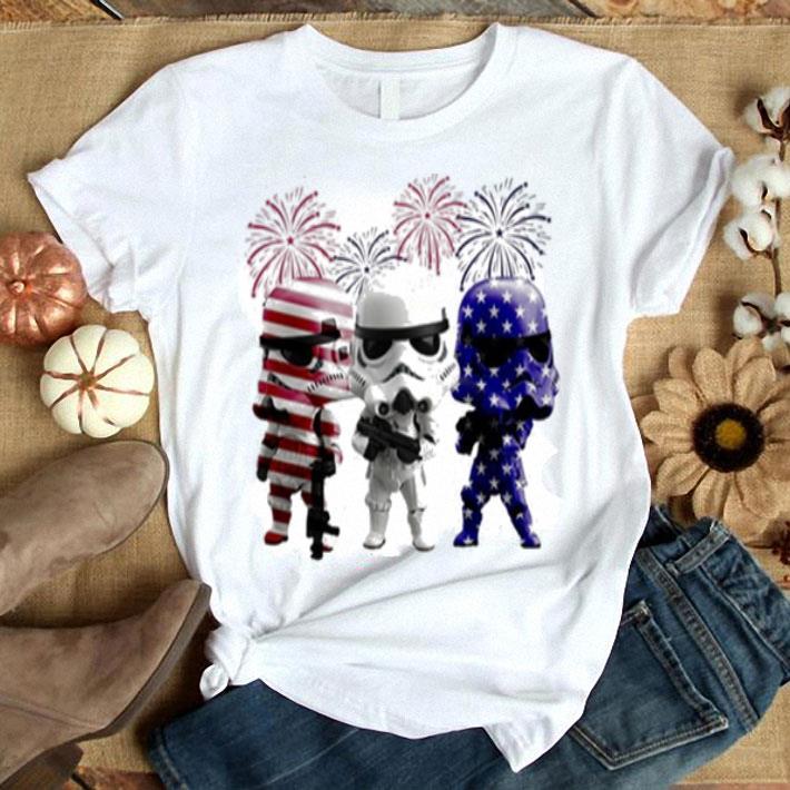 Fireworks Storm Trooper Star War American flag shirt