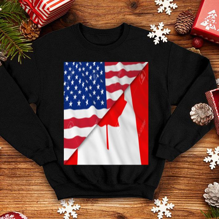 Flags of America and Canada shirt