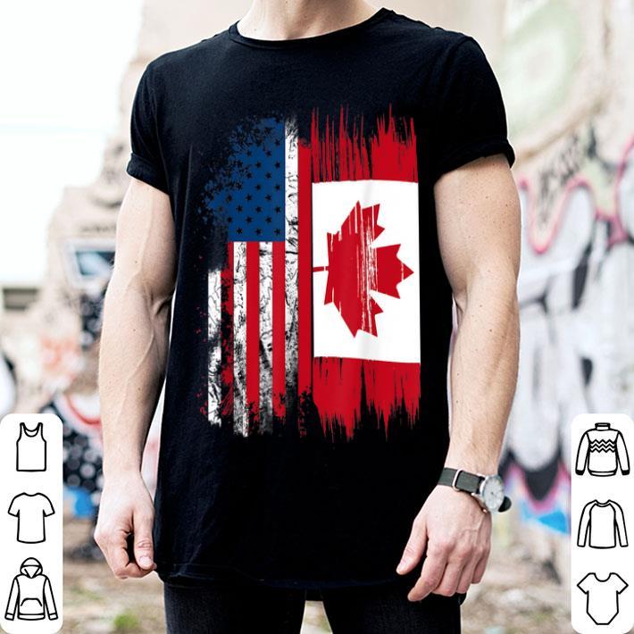 Funny Canada Flag Canadian America Flag shirt