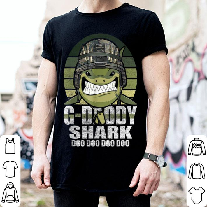 G-Daddy Shark Doo Doo Army Veteran Father day 4th Of July shirt