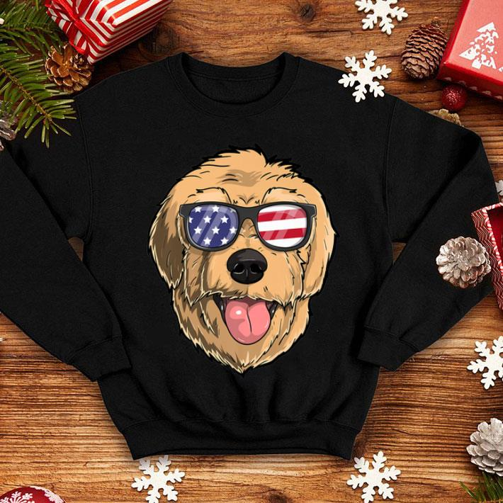 Goldendoodle Dog Patriotic Usa 4th Of July American shirt