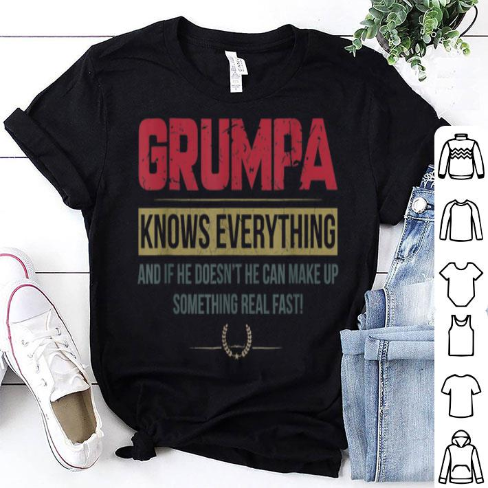 Grumpa Know Everything Father's Day shirt