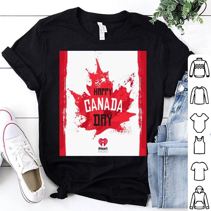Happy Canada Day paint flag shirt