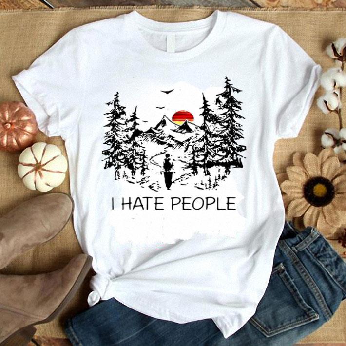 I hate people camp shirt