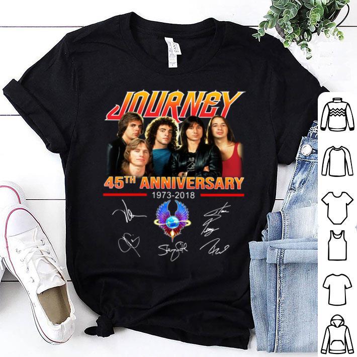 Journey 45th Anniversary 1973-2018 signatures shirt