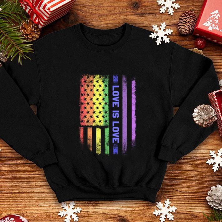 LGBT love is love American flag shirt