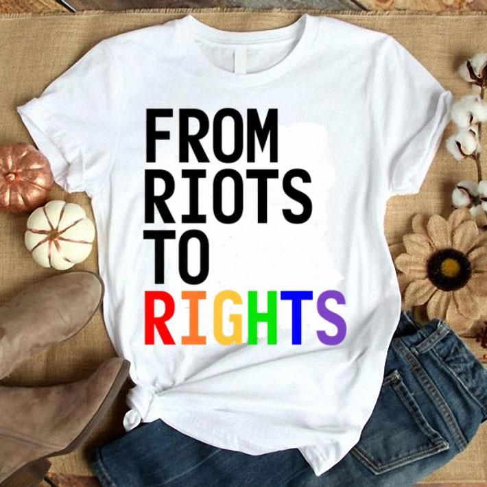 LGBTQ Pride Month Rainbow From Riots To Rights Gay Pride shirt