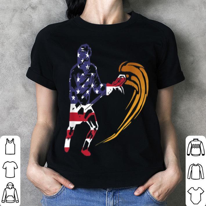 Lacrosse American Flag Vintage Retro shirt