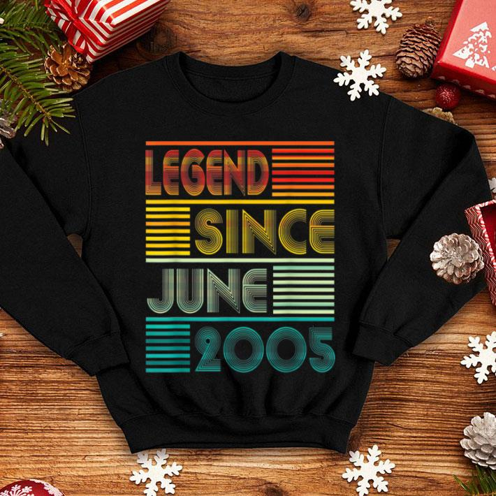 Legend Since June 2005 14th Birthday 14 Years Old shirt