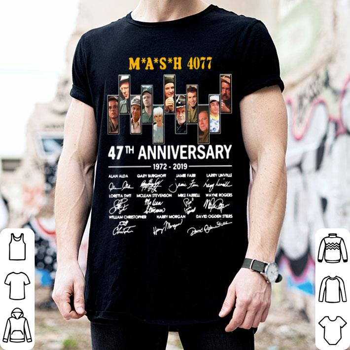 MASH 4077 47th anniversary 1972-2019 signatures shirt