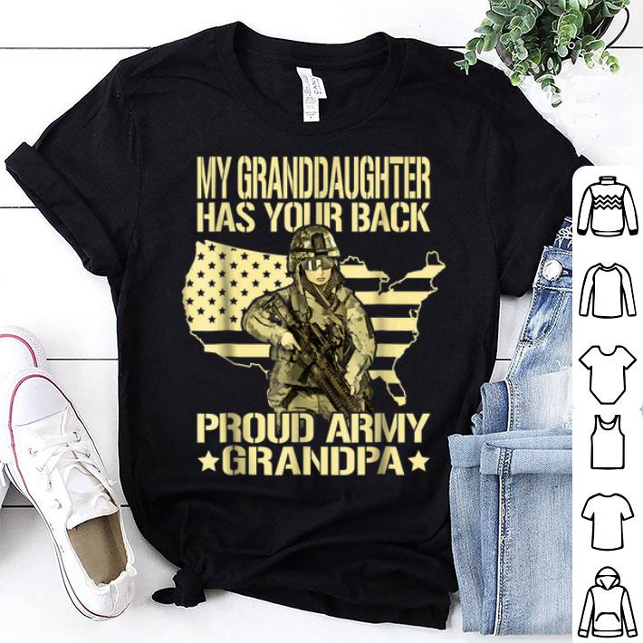 My Granddaughter Has Your Back Proud Army Grandpa Father Day shirt