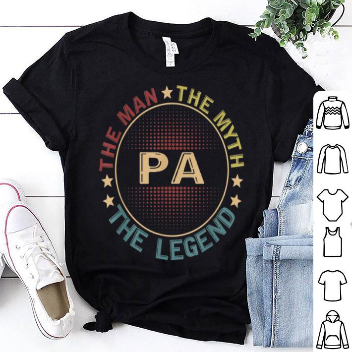 Pa The Man The Myth The Legend Circle Logo shirt
