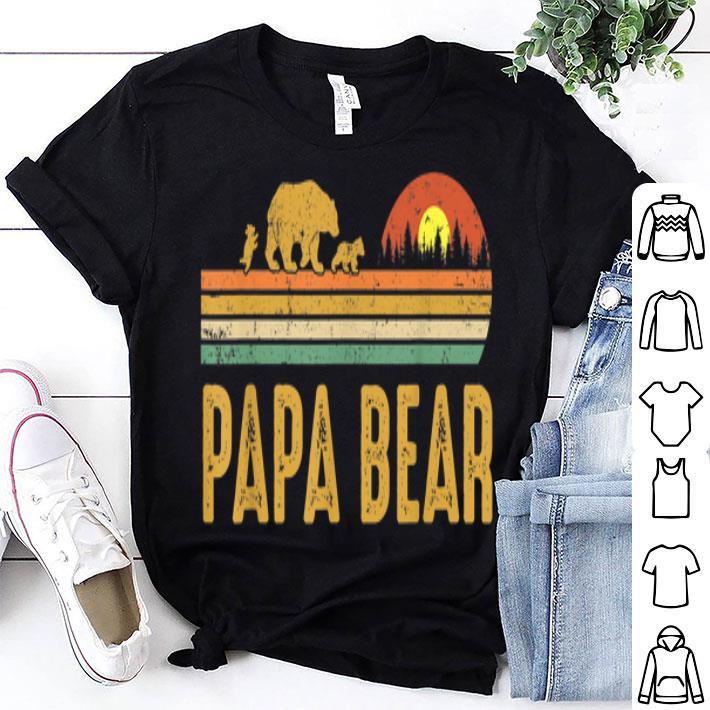 Papa bear Vintage Wildling Father Day shirt