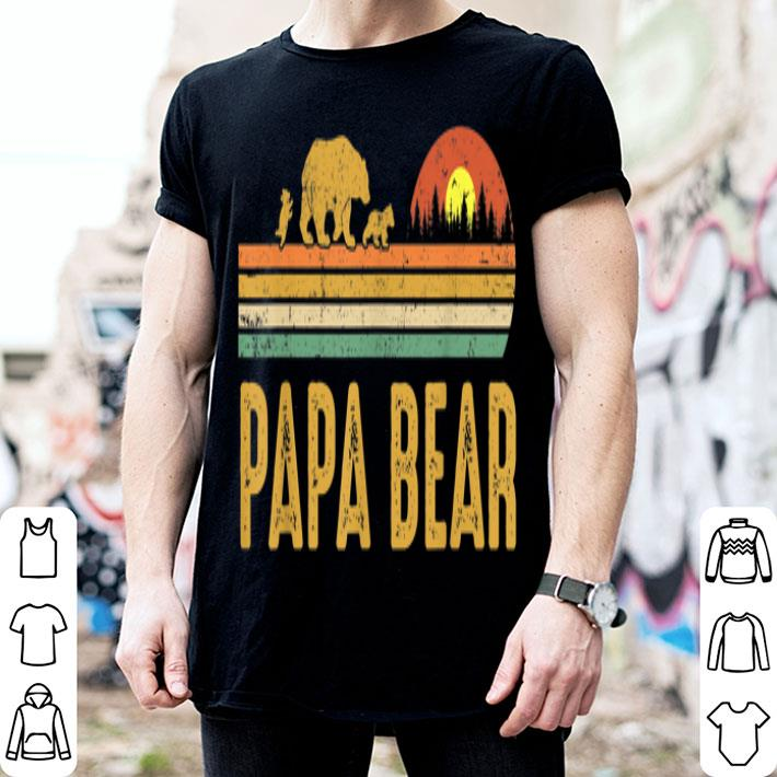 Papa bear Vintage Wildling Father Day shirt
