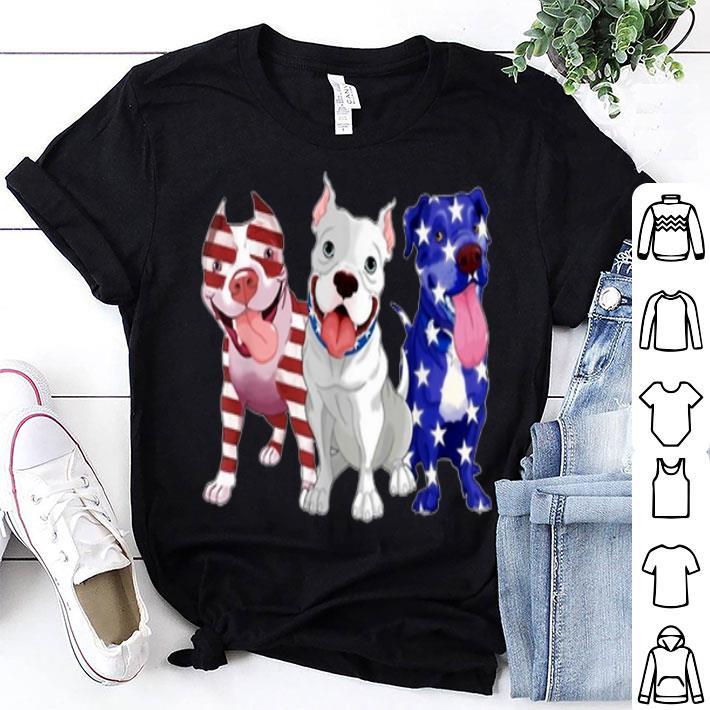 Pitbull American Flag 4th Of July Day Pitbull Lovers shirt