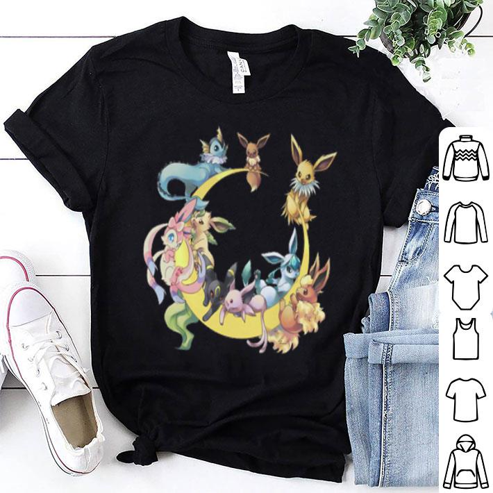 Pokemon Eevee Umbreon Wonders Of Eevee Evolution Sylveon shirt