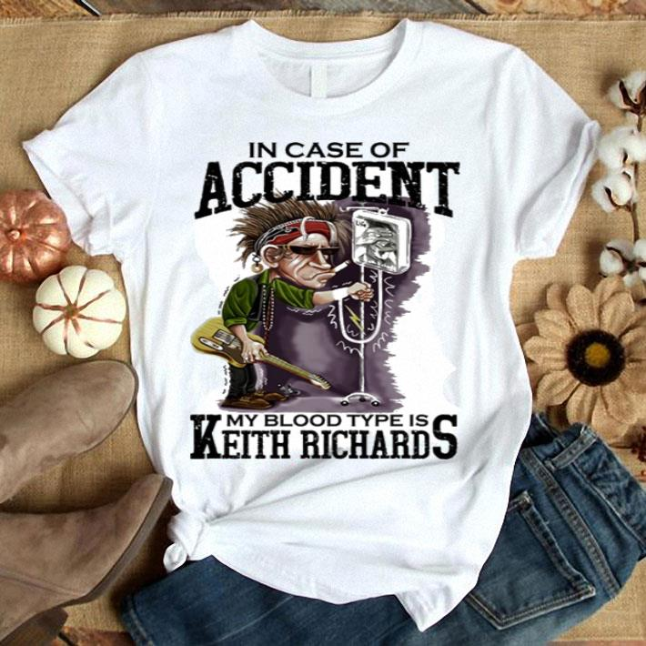 The Rolling Stones in case of accident my blood type is Keith Richards shirt