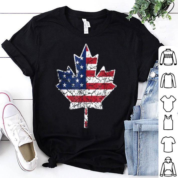 US Canada flag shirt
