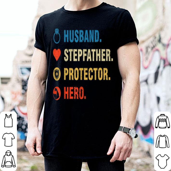 Vintage Husband Stepfather Fathers Day shirt