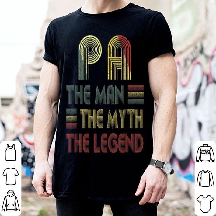 Vintage Retro Pa The Man Myth Legend Father Day shirt